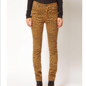 Cheetah print skinny jeans PACSUN